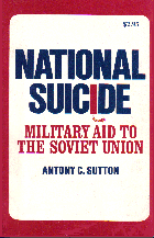 National Suicide; Anthony C. SUTTON